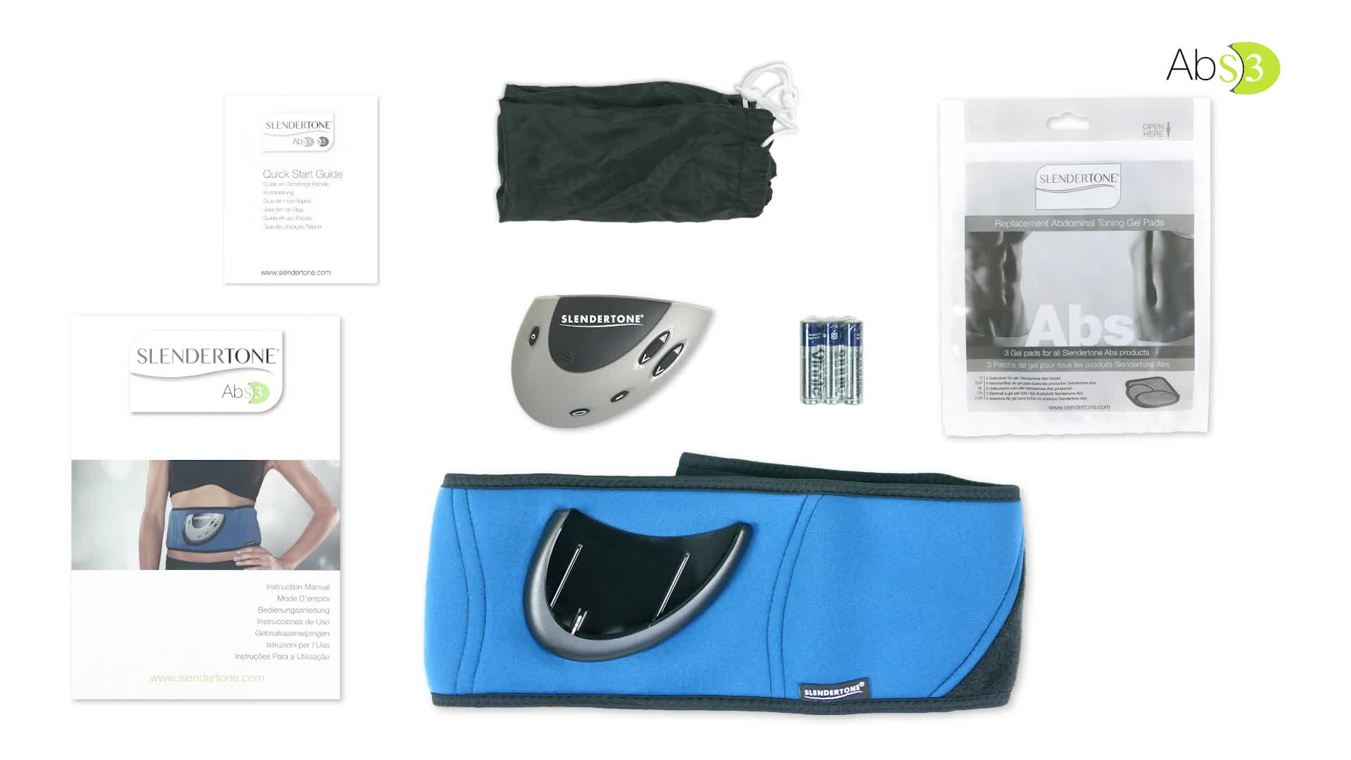 ceinture abdominale slendertone abs3 fitness equipements de sport fnac. Black Bedroom Furniture Sets. Home Design Ideas