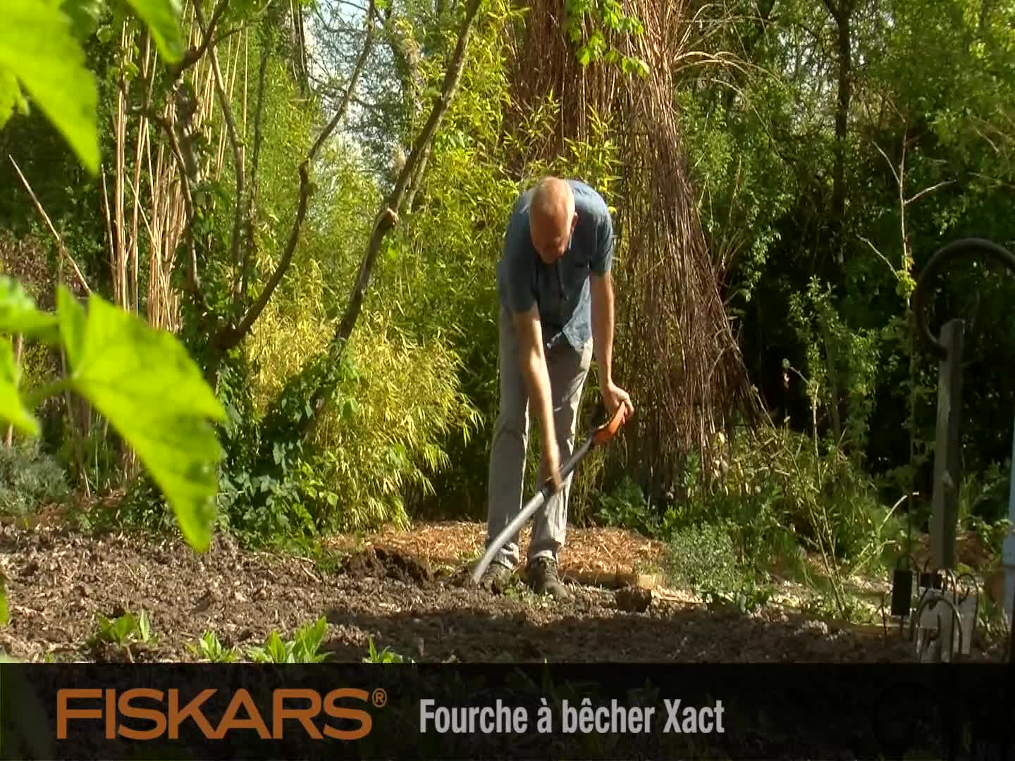 fourche b cher fiskars xact m t te en acier au bore outillage de jardin main achat. Black Bedroom Furniture Sets. Home Design Ideas