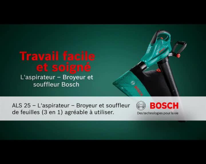 aspirateur souffleur broyeur bosch 06008a1000 als 25 2500. Black Bedroom Furniture Sets. Home Design Ideas