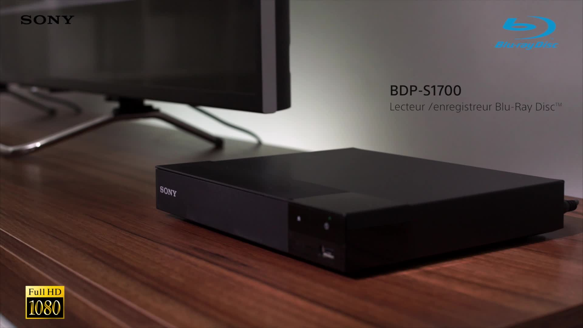 lecteur blu ray disc sony bdp s1700 lecteur dvd blu ray achat prix fnac. Black Bedroom Furniture Sets. Home Design Ideas