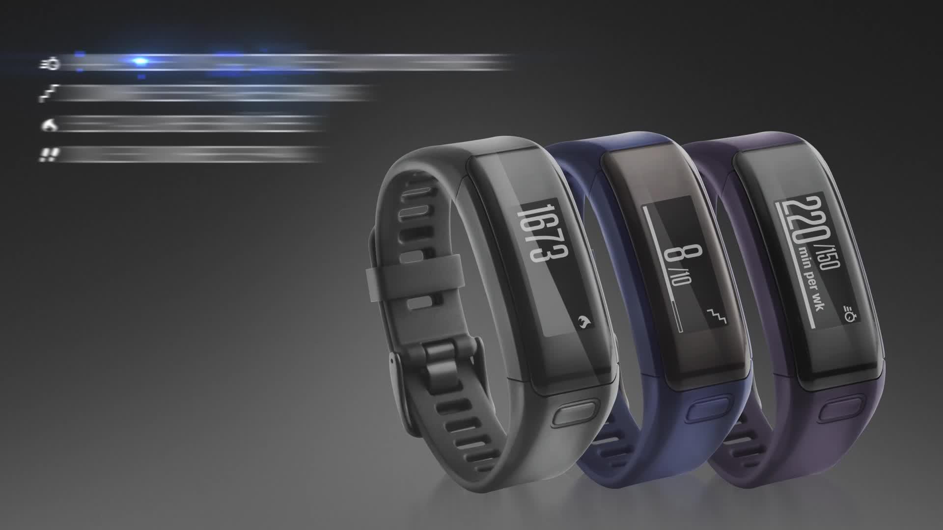 Bracelet connecté Garmin Vivosmart HR taille regular ...