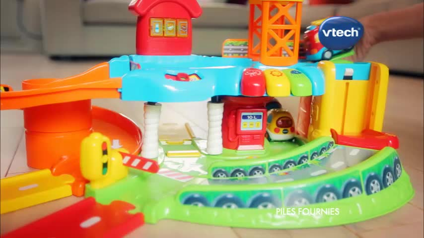 Mon garage ducatif tut tut bolides vtech rose jouets - Garage educatif tut tut bolides rose ...