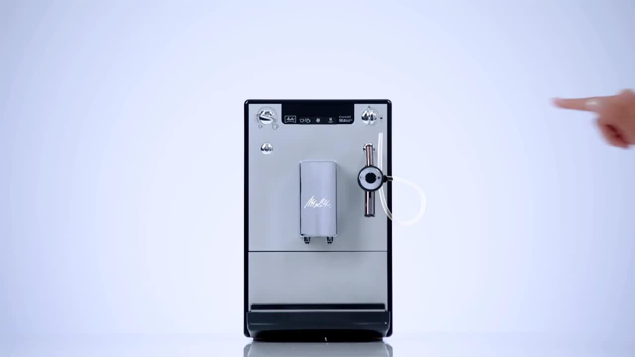 machine expresso et cappuccino melitta caffeo solo perfect milk 1400w argent achat prix. Black Bedroom Furniture Sets. Home Design Ideas