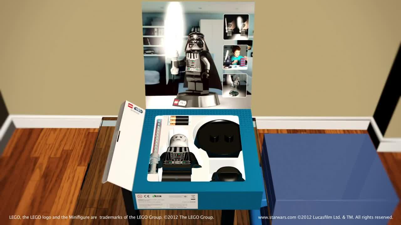 Bureau Wars Lampe Star De Dark Led Vador Lego xhQCtrds