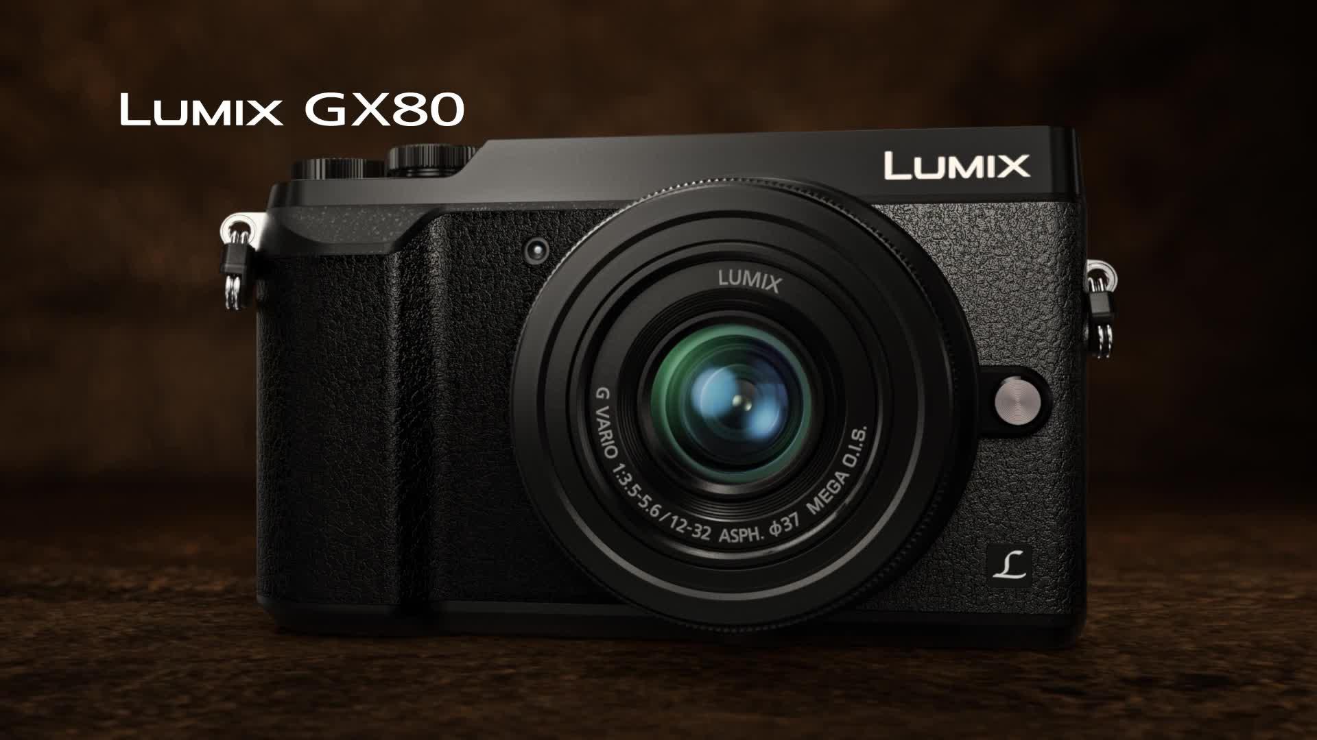 hybride lumix dmc gx80 objectif 12 32 mm noir appareil