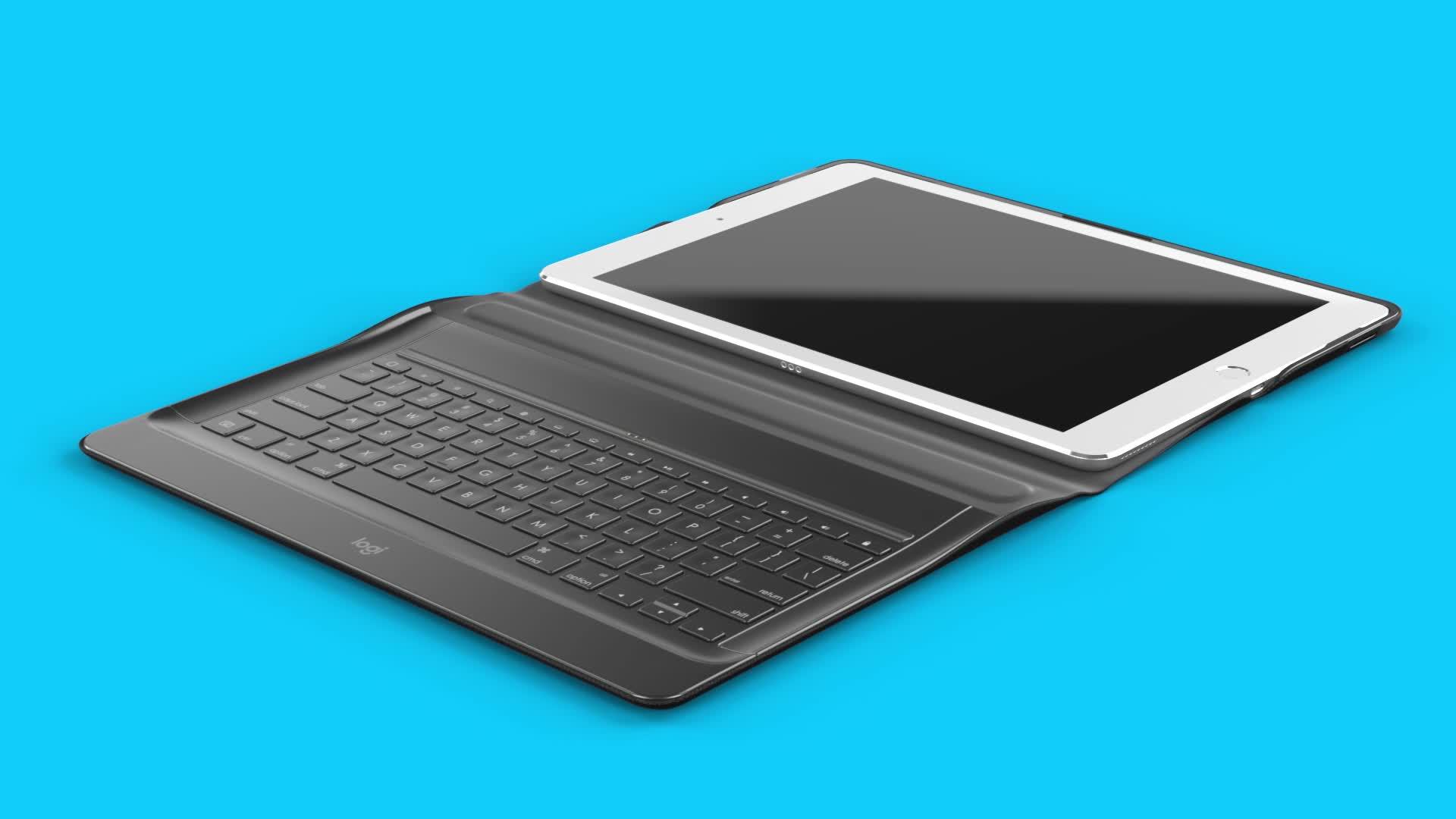 tui folio clavier logitech create noir pour ipad pro 12 compatible avec l 39 ipad pro 12 9 1ere. Black Bedroom Furniture Sets. Home Design Ideas